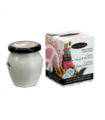 Crema corpo Cocco, Papaya, Mandorla - Drenante, Energizzante, Nutriente La Cremerie