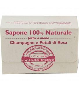 Sapone Champagne & Petali di Rosa 100% Naturale fatto a mano - La Cremerie