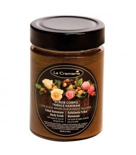 Scrub corpo Tribale Hammam - con Olio di Argan, Olio di Rosa e Tea Verde - La Cremerie