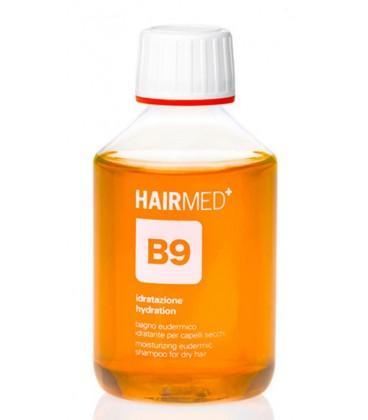 Shampoo B9 - Bagno Eudermico Idratante Ideale per Capelli Secchi - Hairmed
