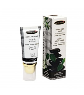 Crema viso Uomo Tea Verde & Licheni, Antietà, Rigenerante - La Cremerie