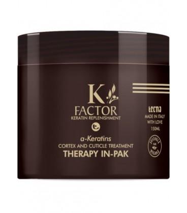 K-FACTOR a-KERATINS THERAPY IN-PAK CONIZIONANTE EFFETTO LISCIO ANTICRESPO - Tecna - 150ml