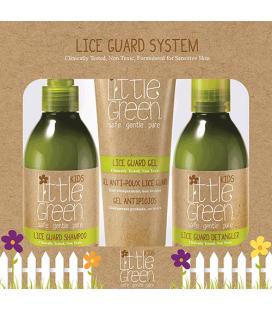 Little Green Cares Kids - Lice Guard System - Shampoo, Balsamo e Gel Antipidocchi - Non tossico - Pelli Sensibili