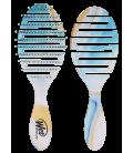 Pro Flex Dry Teal Organic Swirl - Spazzola Districante ideale per Asciugatura Verde Acqua - Wet Brush