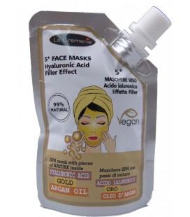 Maschera Viso Acido Ialuronico, Oro 24k, Effetto Lifting - 50ml - La Cremerie