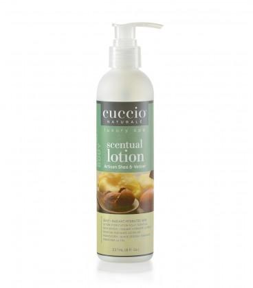 Lozione idratante da massaggio Burro di Karitè e Vetiver - Artisan Shea e Vetiver - Cuccio naturalé - 237ml