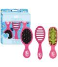 Wet Brush Best in Travel Trio Kit di spazzole ditricanti da viaggio - Pink - 3 pezzi - WetBrush