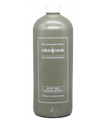 Shampoo Nature Inside Aloe e Sandalo Multivitaminico, Equilibrante – Aloe, Sandalwood – Naturalmente – 1000ml