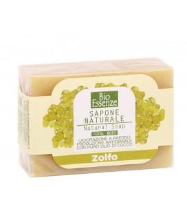 Sapone allo Zolfo, Ideale per acne o per pelli grasse, impure - Adatto per tutto il corpo e per i capelli - Bio Essenze - 100gr
