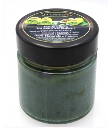 Scrub corpo Tea verde e Vitamina E - Multifunzionale, Stimolante, Drenante, Rinvigorente - 300gr - La Cremerie
