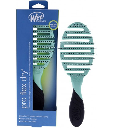 Wet Brush Pro Flex Dry Purist Blue - Spazzola Districante Delicata ideale per Asciugatura