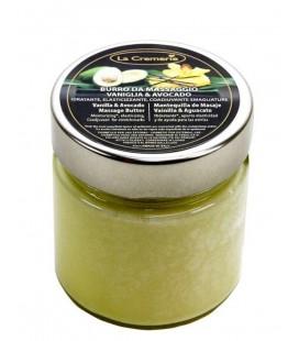Burro da massaggio Vaniglia & Avocado - Idratante, Elasticizzante, Coadiuvante Smagliature - La Cremerie - 200ml