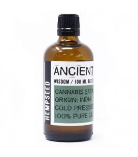 Olio di Semi di Canapa 100% Naturale, Spremuto a Freddo – 100 ml – Ancient Wisdom