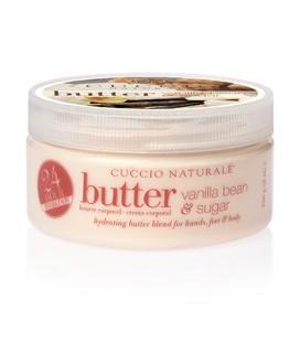Vaniglia e zucchero di canna Burro per idratazione corpo, mani e piedi