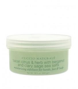 Bergamotto e Salvia Peeling ai sali marini per esfoliazione di mani e corpo scrub - Cuccio naturalé