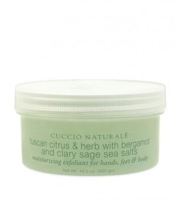 Bergamotto e Salvia Peeling ai sali marini per esfoliazione di mani e corpo scrub Cuccio