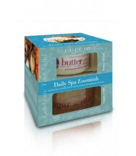 Confezione regalo Esfoliante e Idratante Vaniglia e Zucchero Daily SPA Essentials corpo, mani e piedi