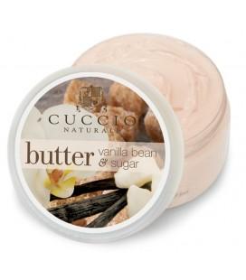 Vaniglia e zucchero di canna Burro Mini per idratazione corpo, mani e piedi Cuccio Naturalé