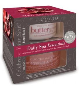 Confezione Cuccio Naturalé Esfoliante e Idratante Melograno e Fico Daily SPA Essentials corpo, mani e piedi