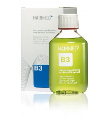 Shampoo B3 - Bagno Eudermico attivo per cute con forfora grassa - Hairmed